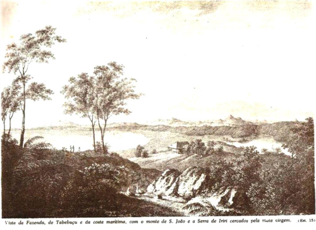 Lagoa de Itapebussus segundo Maximiliano de Wied-Neuwied (1815)