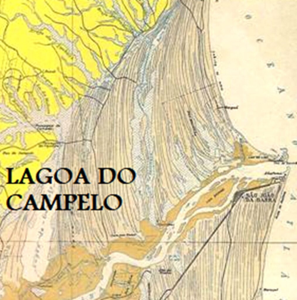 Lagoa do Campelo em mapa de 1954 desenhado por Alberto Ribeiro Lamego